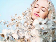 Солнечные Цветы Девушка Женщина Портрет Небо Цветы